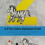 Z is for Zebra Alphabet Craft