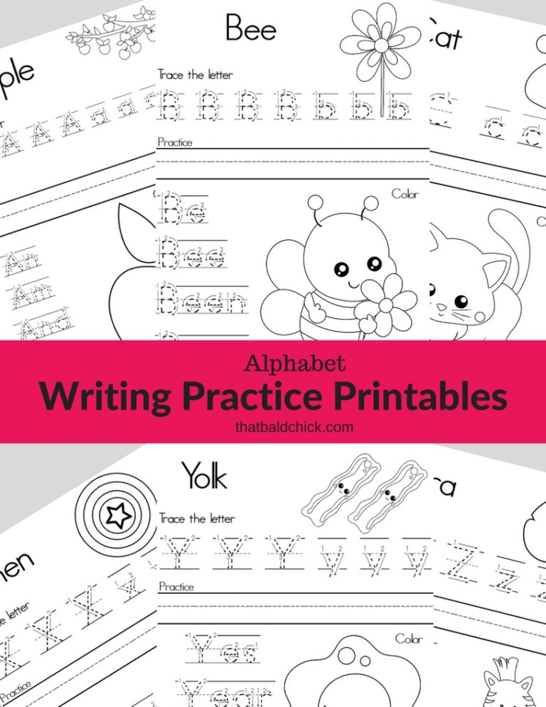 Alphabet Writing Practice Printables