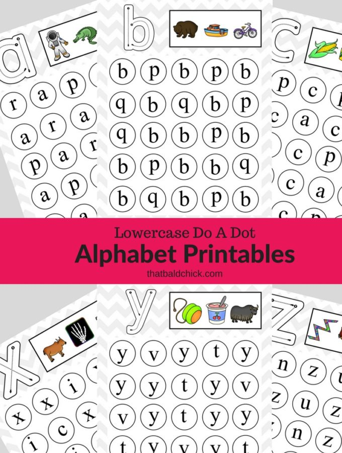Get these #free Uppercase Do A Dot #Alphabet #Printables at thatbaldchick.com! #homeschool #teacher #abcs #lotw #free #printable #homeschooling #hsmommas