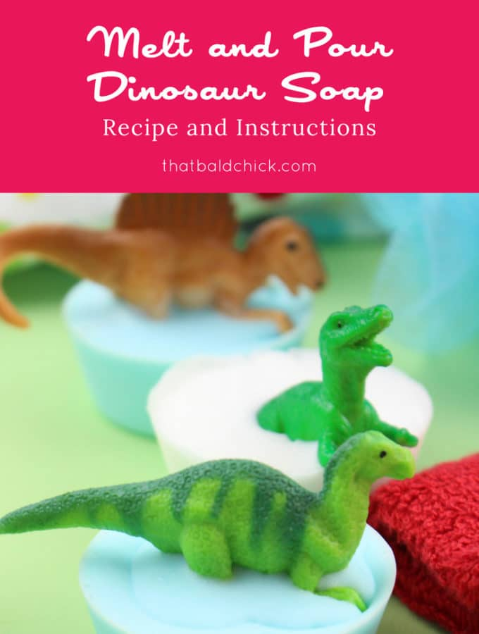 Melt and Pour Dinosaur Soap