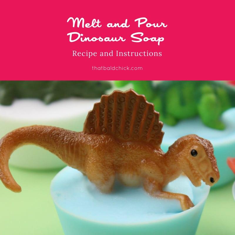Melt and Pour Dinosaur Soap
