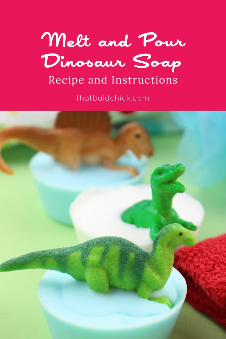 Melt and Pour Dinosaur Soap Recipe and Instructions