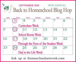 10th Annual iHomeschool Network Back to Homeschool Blog Hop Curriculum Week