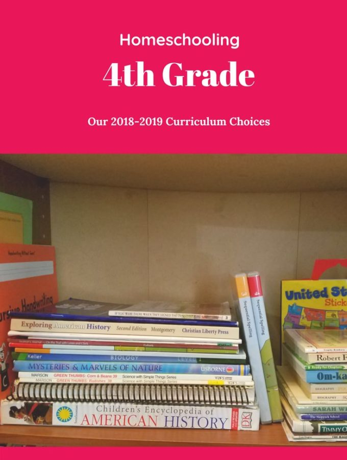 Come check out our curriculum choices for Homeschooling 4th Grade.