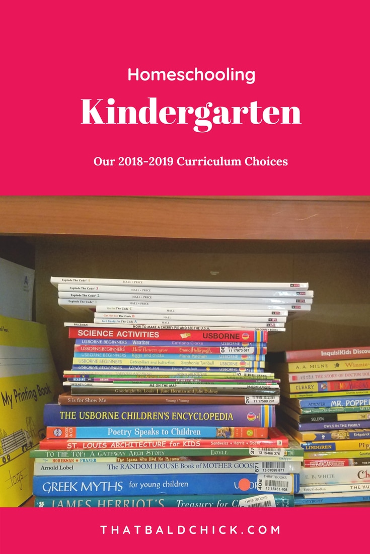 Homeschooling Kindergarten - our 2018-2019 Curriculum Choices