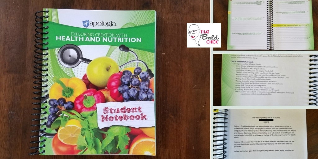 Apologia Health and Nutrition Student Notebook