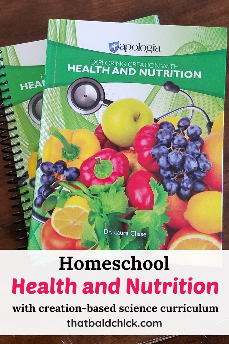 Homeschool health and nutrition with creation-based science curriculum from Apologia. AD #homeschool #science #health #nutrition #homeschoolscience #hsmommas #homeed #homeeducate
