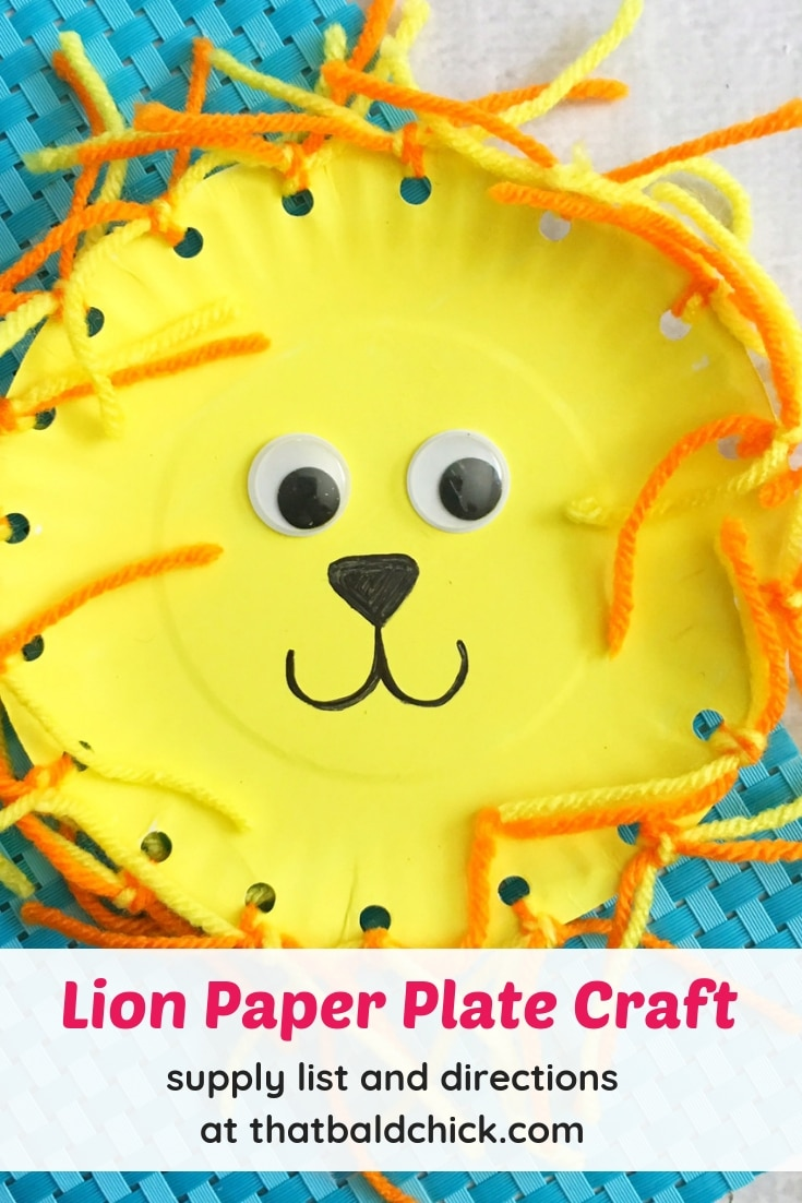 Lion Paper Plate Craft That Bald Chick