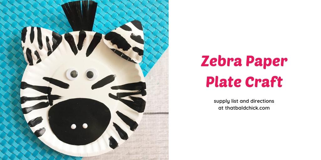 Zebra Paper Plate Craft That Bald Chick