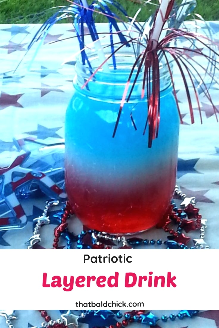 Make this $Patriotic Layered Drink for #MemorialDay, #IndependenceDay, and #LaborDay! #4thofJuly #July4th
