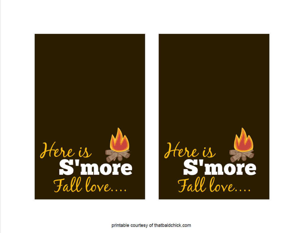 S'more Fall Love Printable 2 per page