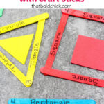 Teaching Shapes with Craft Sticks