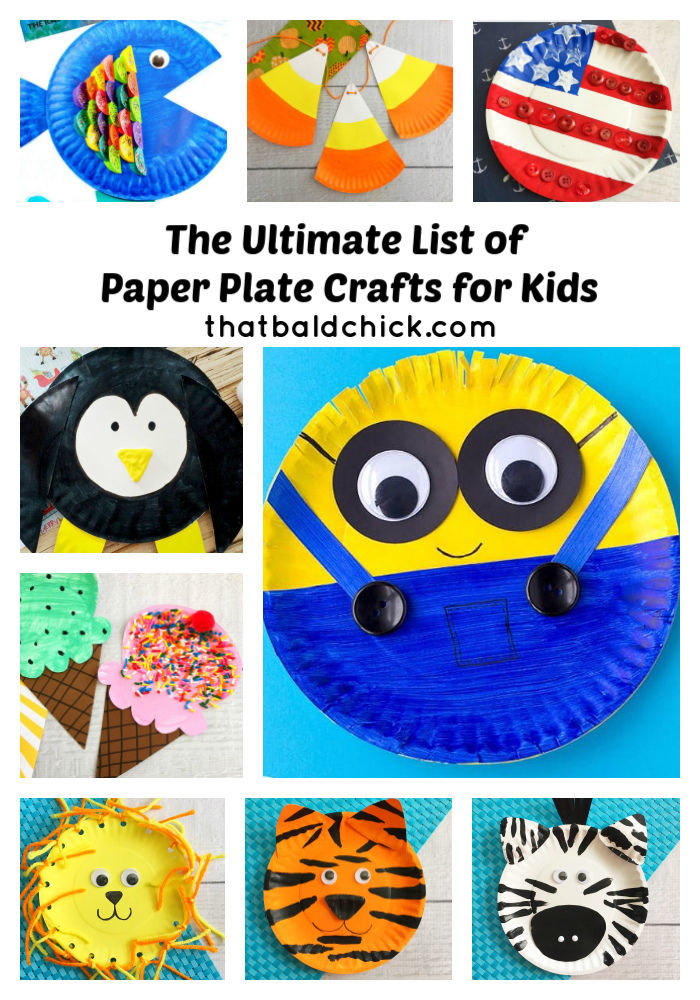 Paper Plate Crafts For Kids That Bald Chick