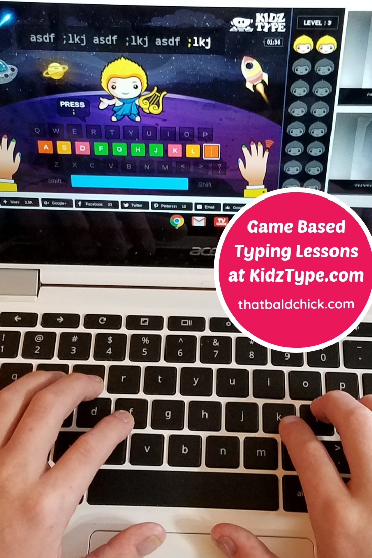 KidzType Game Based Typing Lessons