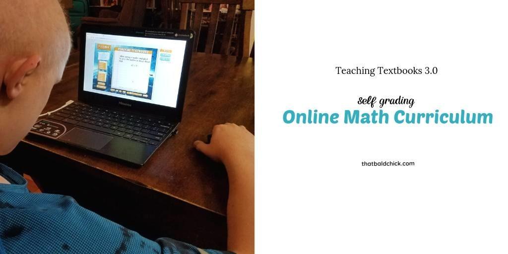 Teaching Textbooks 3.0 online math curriculum