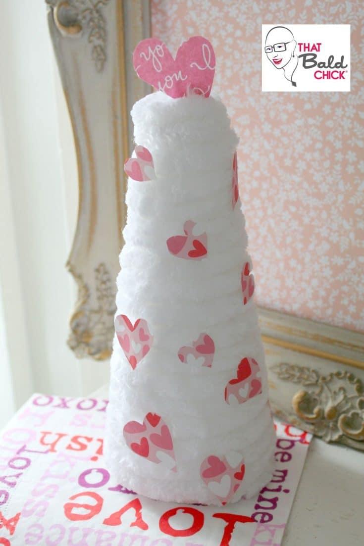 DIY Chenille Heart Tree