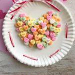 Conversation Heart Paper Plate Craft