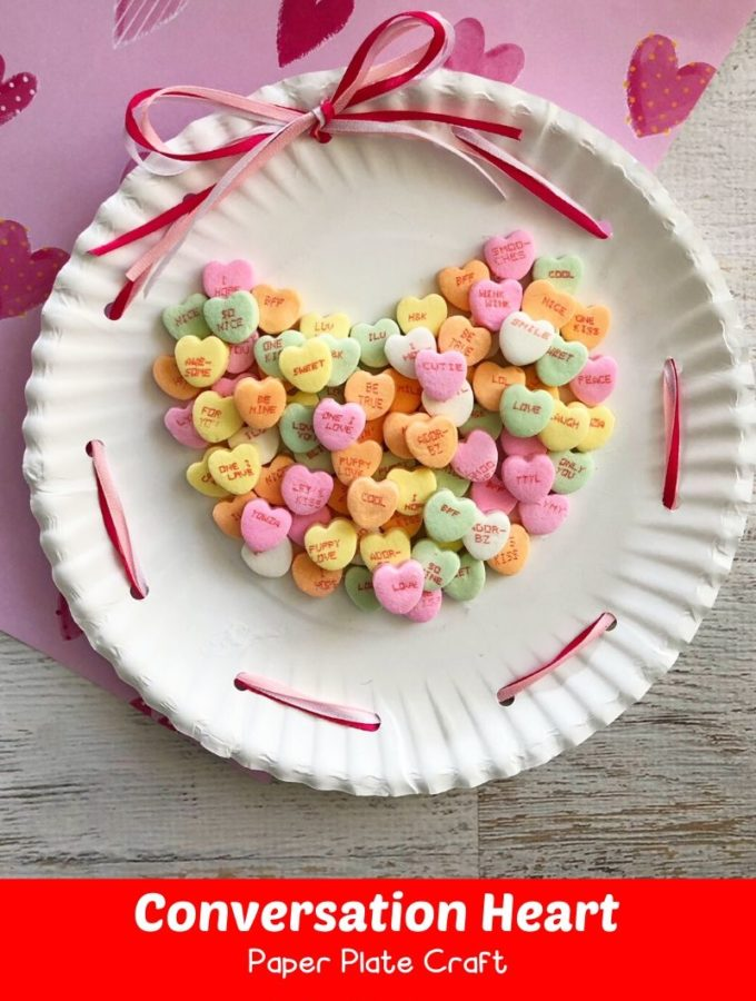 Conversation Heart Paper Plate Craft