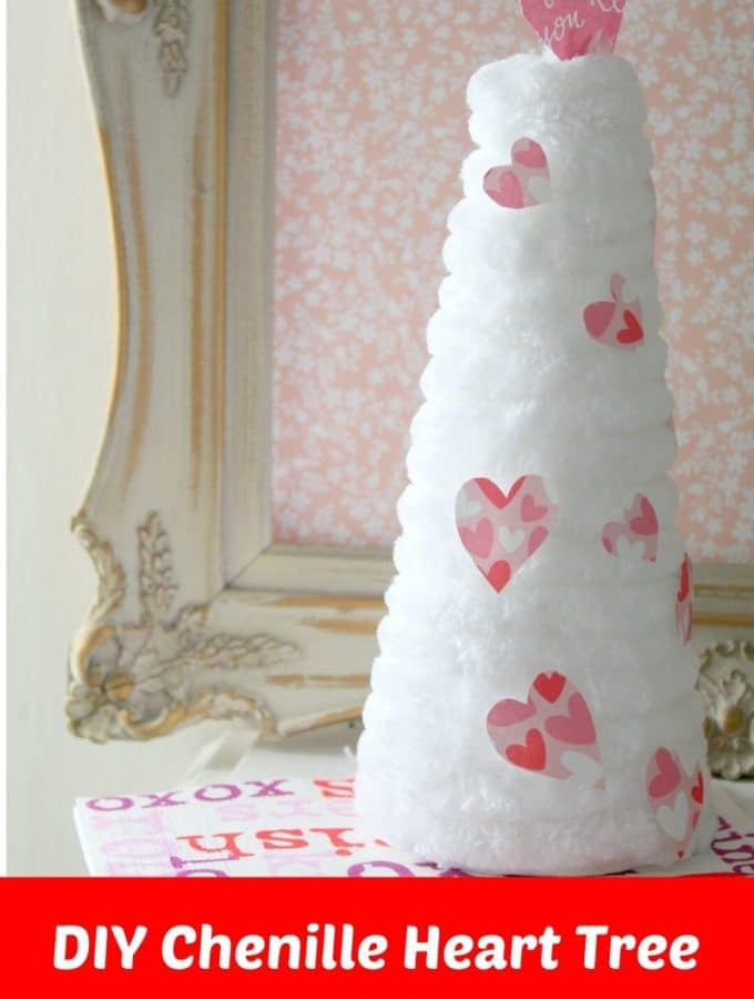 DIY Chenille Heart Tree