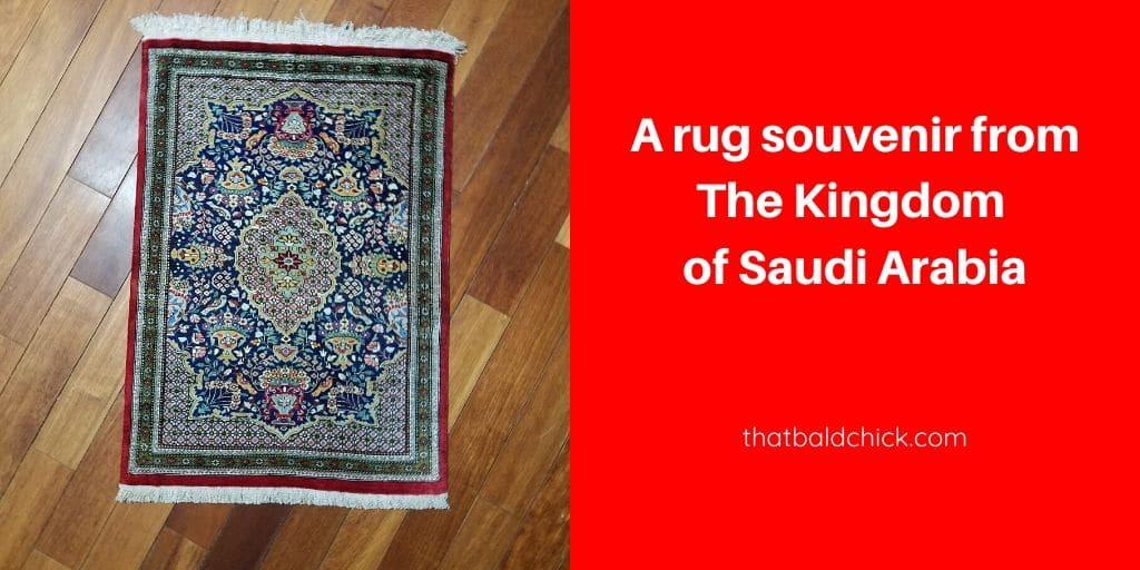 a rug souvenir from The Kingdom of Saudi Arabia