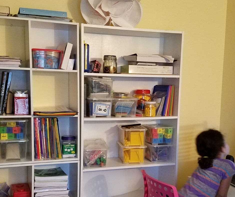 another bookshelf for our homeschool room
