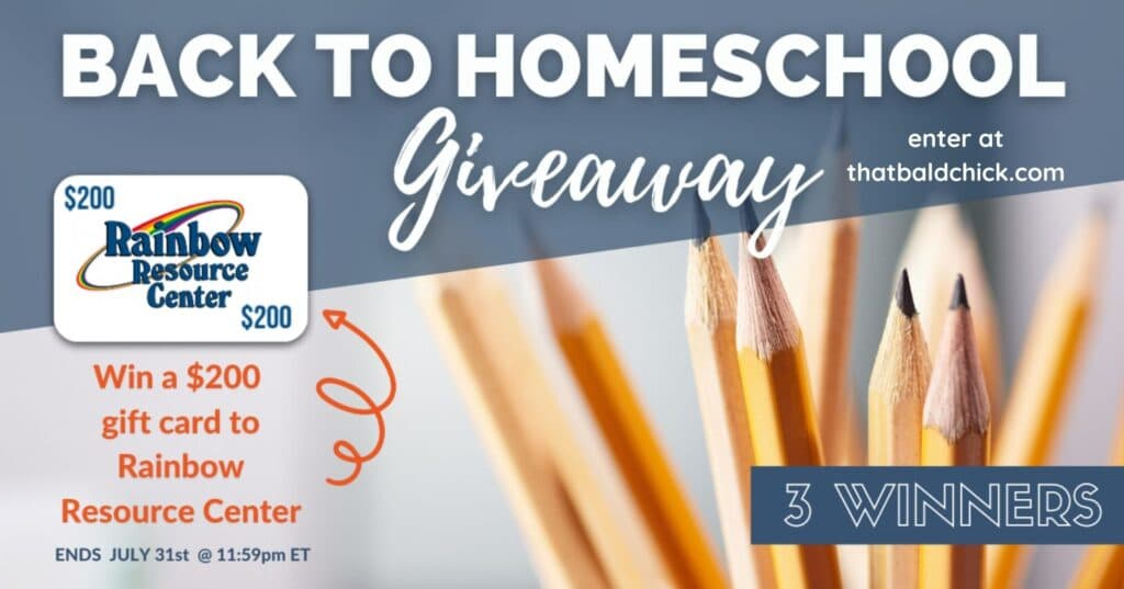 Back to Homeschool Giveaway for Rainbow Resource Center!