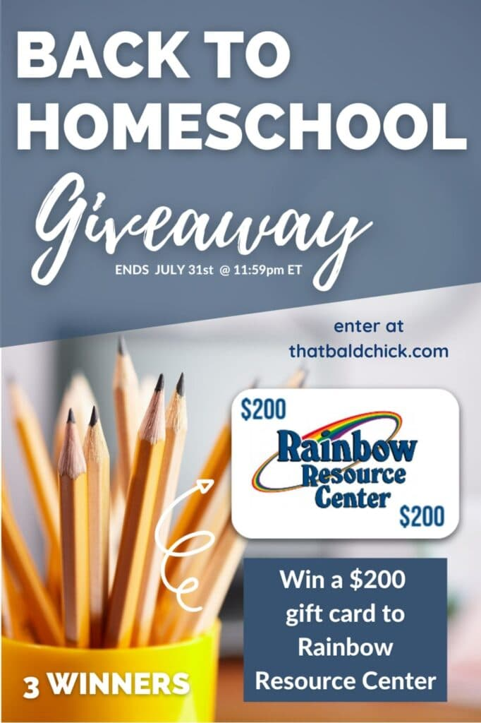 Rainbow Resource Center Giveaway for Back to Homeschool