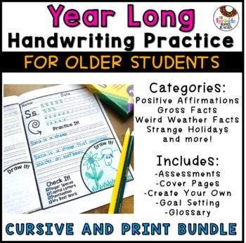 Year Long Handwriting Practice