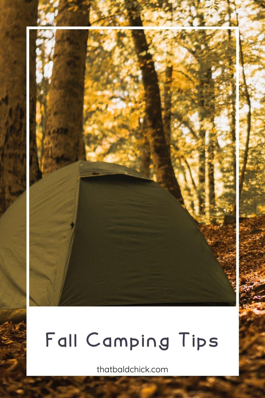 Fall Camping Tips