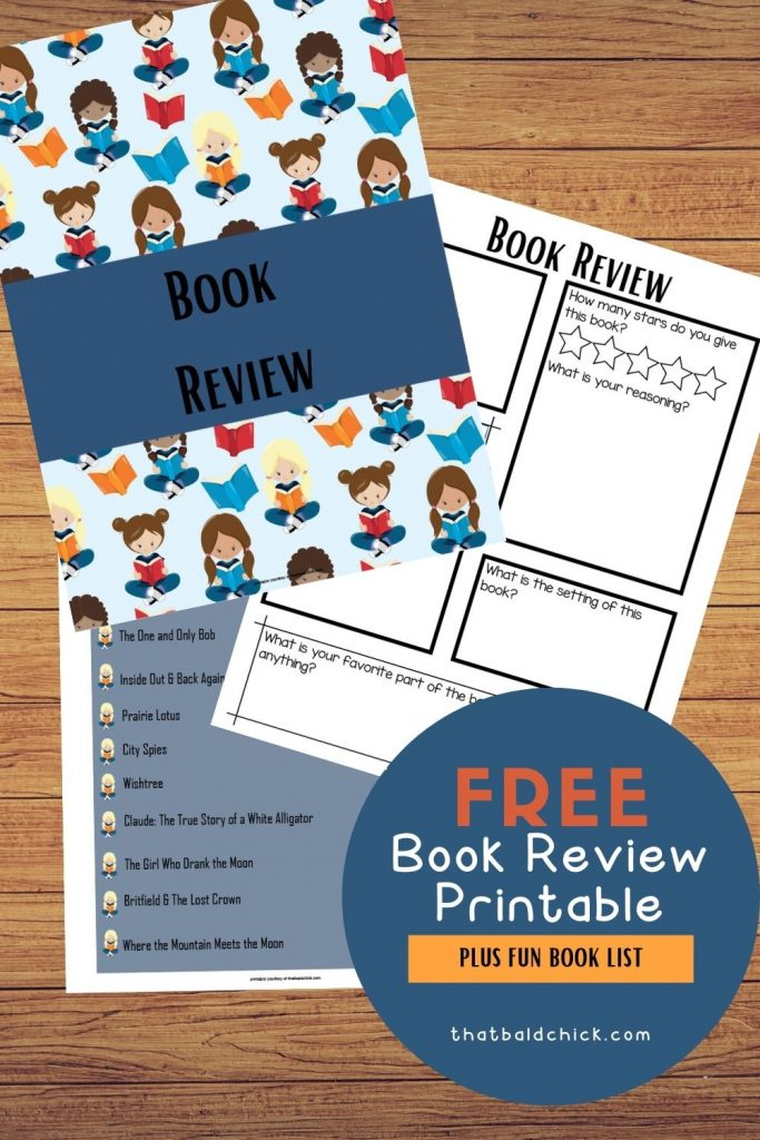 book review printable