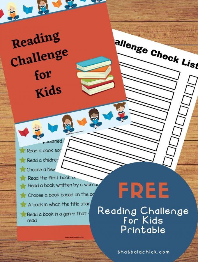 free reading challenge printable