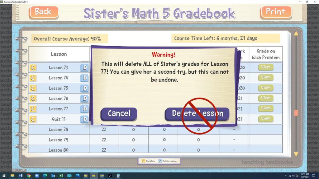 tt do not delete lesson