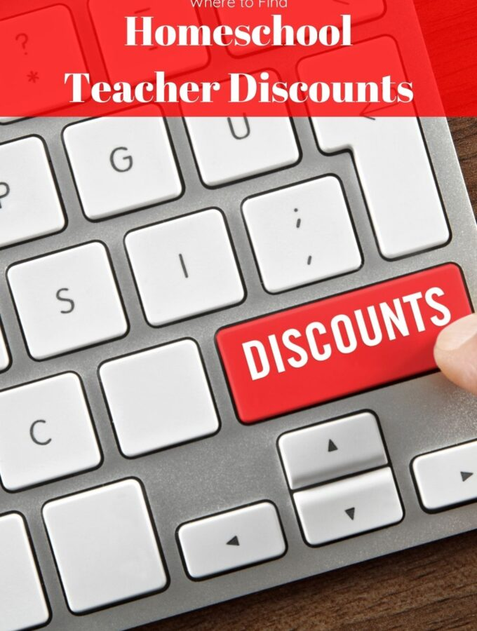 Homeschool Teacher Discounts