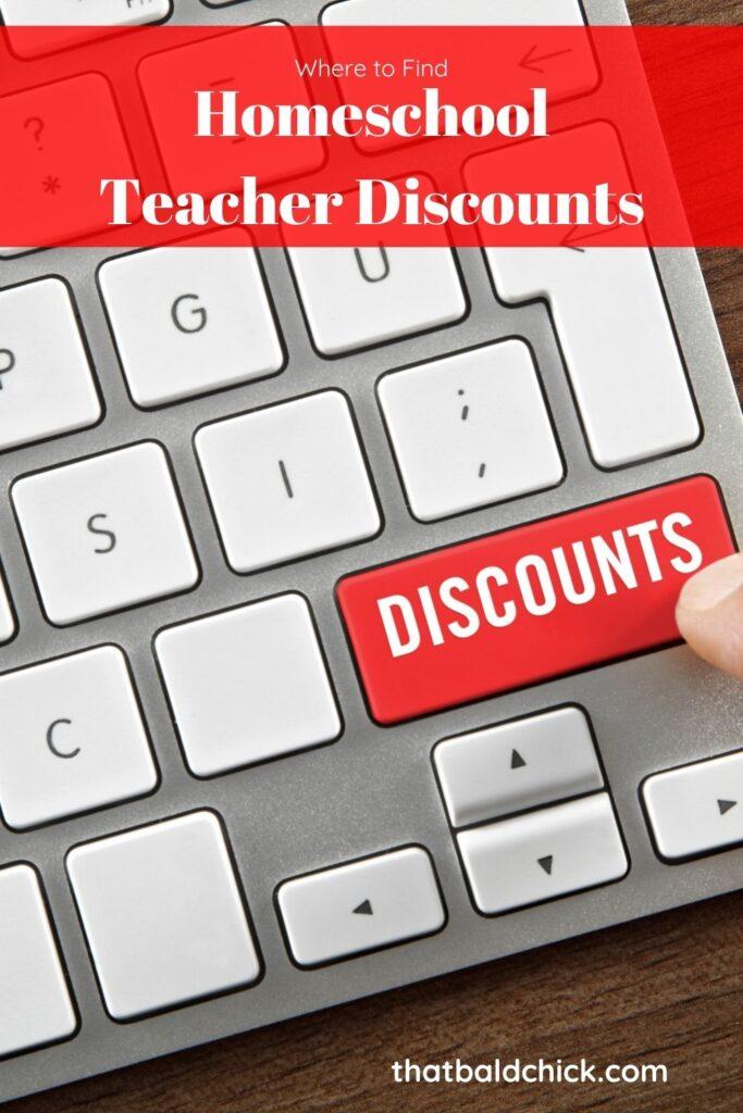 Homeschool Teacher Discounts