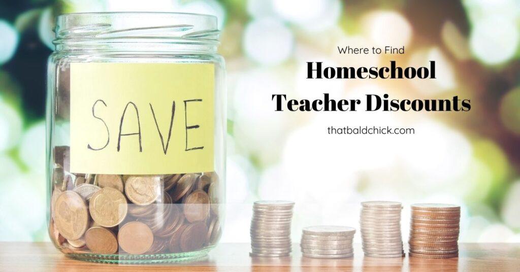 Where to find homeschool teacher discounts