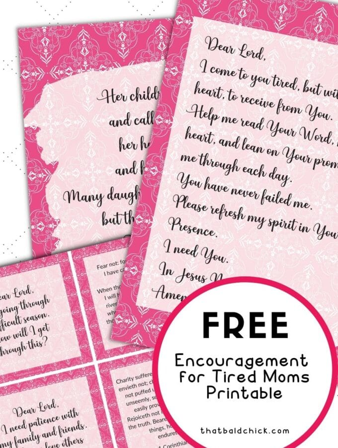 Encouragement for Tire Moms printable