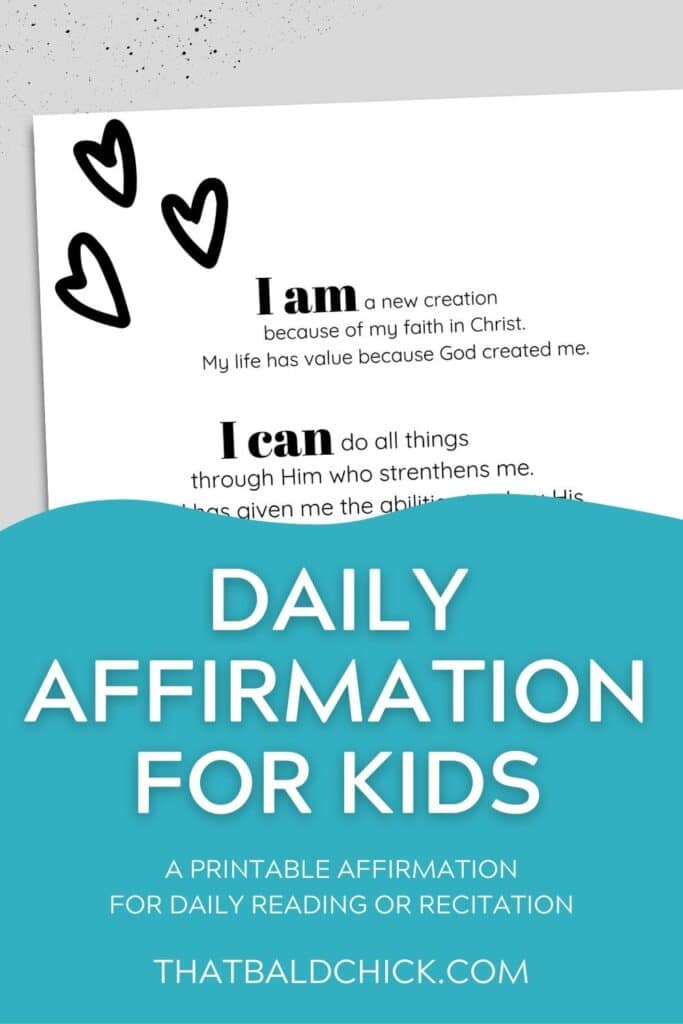 Daily Affirmation for Kids
