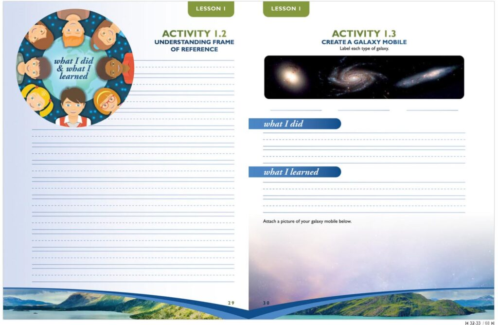 Apologia Earth Science Junior Journal Sample