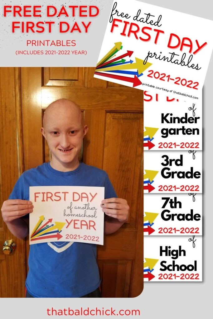 Free First Day Printable Dated