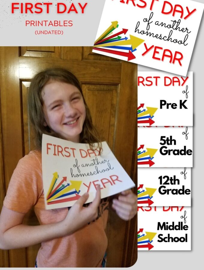 Free First Day Printable Undated