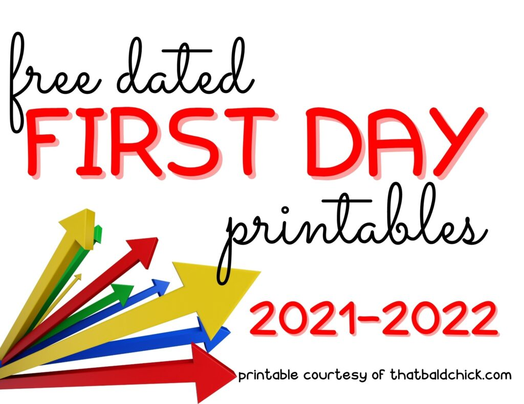 dated first day printables
