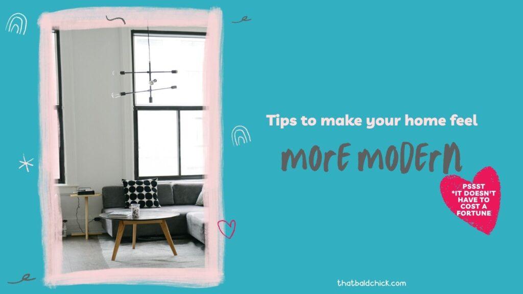 modern home decor tips